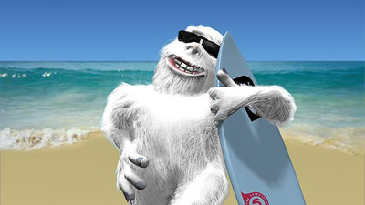 Surfer yeti
